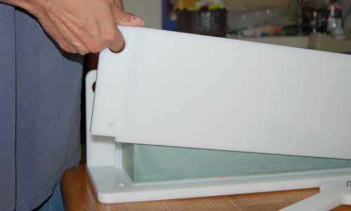 Unmolding soap in HDPE log mold