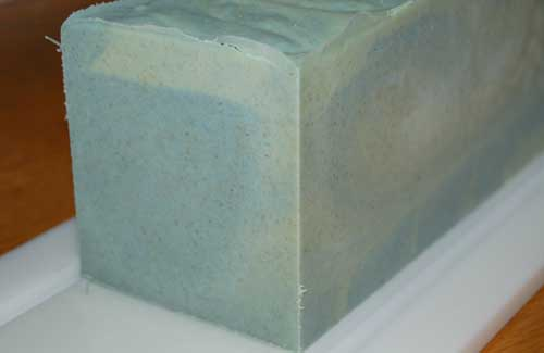 Soap made in HDPE log mold